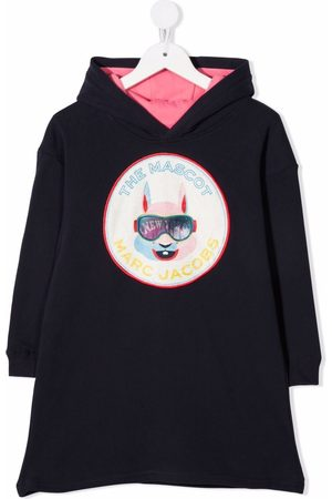 The Marc Jacobs Kids Logo-patch hooded dress