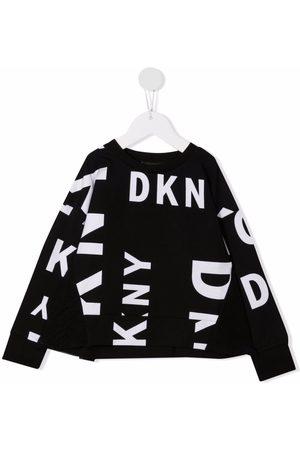 Dkny Kids Logo-print ruffle sweatshirt