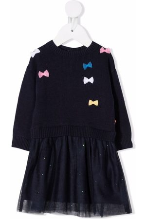 Billieblush Meisjes Feestjurken - Layered bow-detailed dress