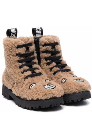 Moschino Toy bear lace-up boots
