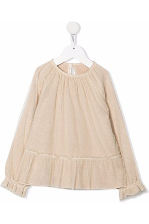 Zhoe & Tobiah Peplum-hem long-sleeve blouse