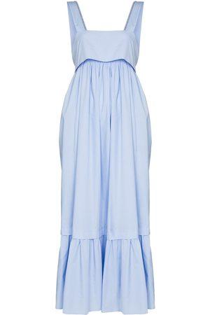 Chloé Square-neck bow-embellished dress