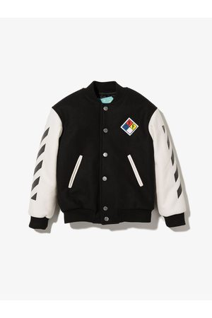 Off-White Kids Arrows button-up bomber jacket