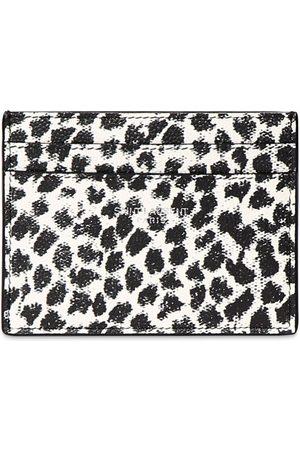 Saint Laurent Heren Portefeuilles - Leopard Print Leather Card Holder