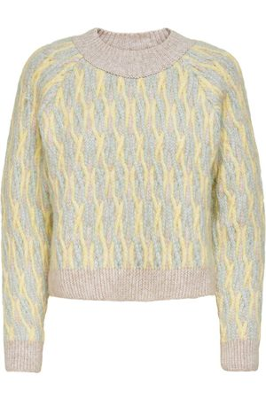 ONLY Patterned Knitted Pullover Dames Green