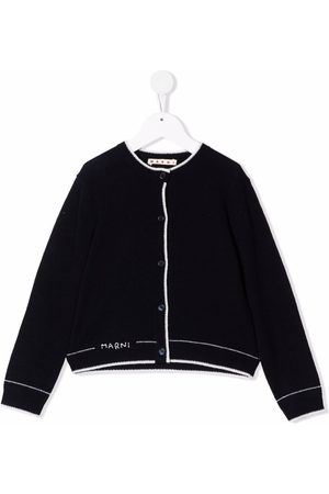 Marni Logo-embroidered knitted cardigan