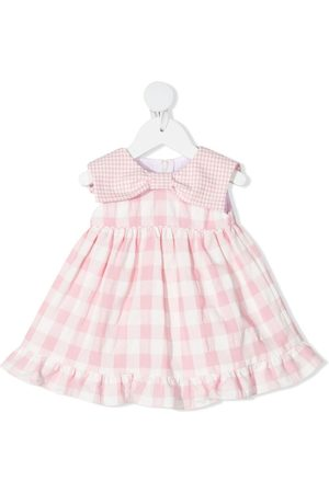 LA STUPENDERIA Vichy check-print dress