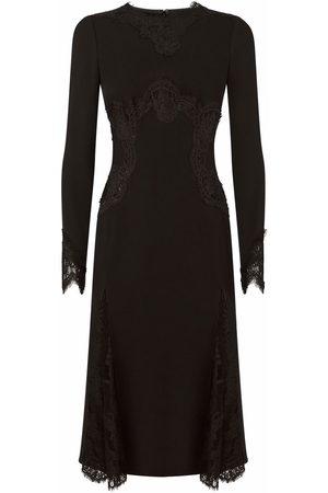 Dolce & Gabbana Lace-panel mid-length dress