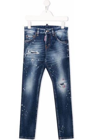 Dsquared2 Jongens Straight - Mid-rise straight-leg jeans