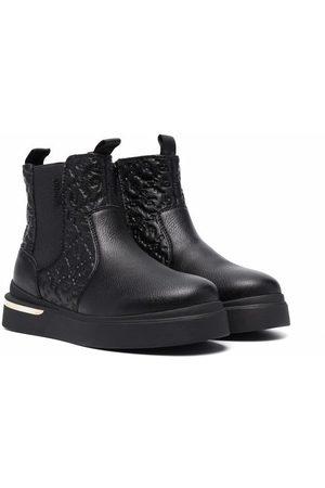 Liu Jo Logo embossed ankle boots