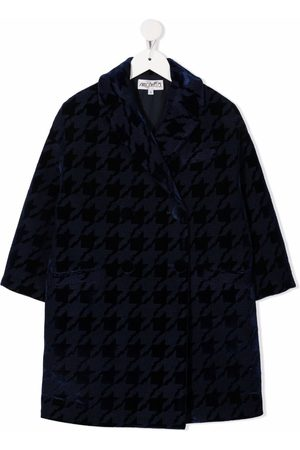 Simonetta Houndstooth-print double-breasted coat