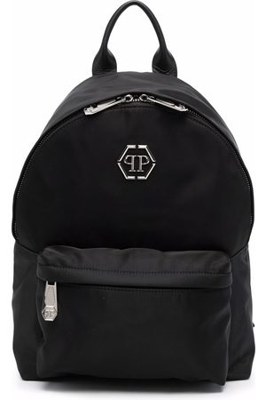 Philipp Plein Logo-plaque zip-up backpack