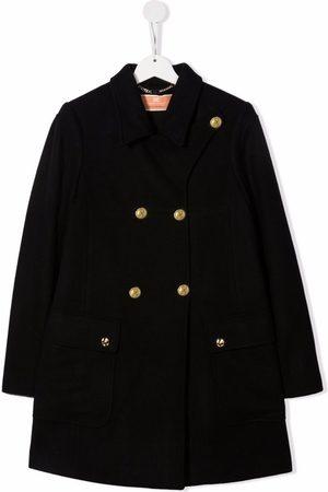 Elisabetta Franchi La Mia Bambina Donsjassen - Embossed-button coat