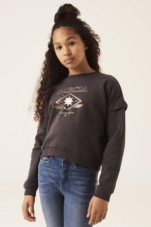 GARCIA Donkergrijze sweater met opdruk g12461 6912 girls grey