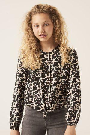GARCIA Donkergrijze blouse met alloverprint g12431 2884 dark grey