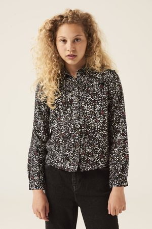 GARCIA Meisjes Blouses - Zwarte blouse met alloverprint h12630 1755 off black
