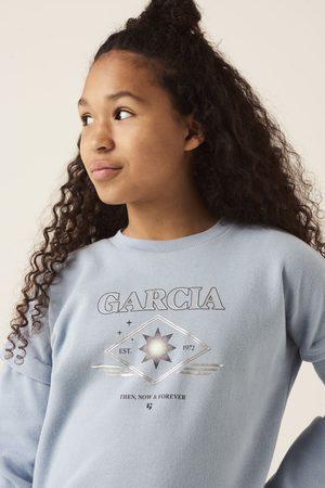 GARCIA Blauwe sweater met opdruk g12461 2913 vintage blues