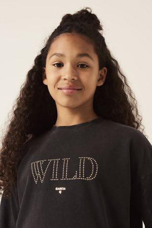 GARCIA Zwarte sweater met tekstprint h12664 1755 off black