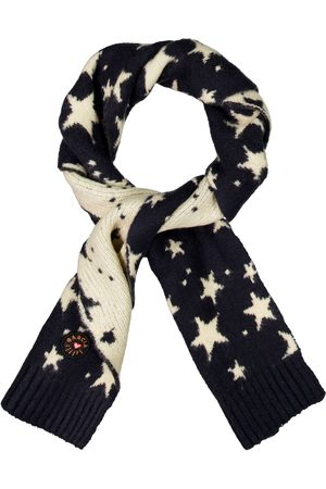 GARCIA Meisjes Sjaals - Donkerblauwe sjaal met alloverprint h14634 292 dark moon