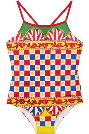 Dolce & Gabbana Meisjes Badpakken - All Over Print Lycra One Piece Swimsuit