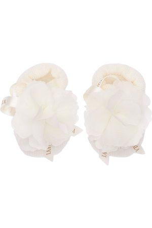 La Perla Wool Knit Socks W/ Flowers