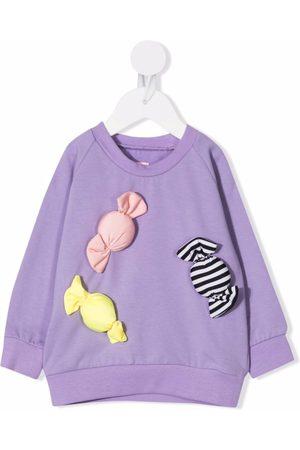 WAUW CAPOW by BANGBANG Candy-appliquéd jersey sweatshirt