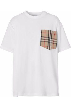 Burberry Dames T-shirts - Vintage Check pocket cotton T-shirt