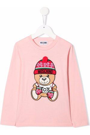 Moschino Kids Holiday teddy bear T-shirt