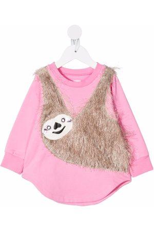 WAUW CAPOW by BANGBANG Meisjes Casual jurken - Sloth-appliquéd jersey dress