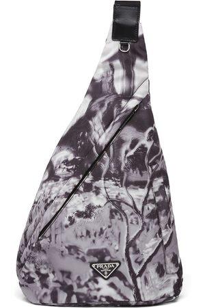 Prada Heren Rugzakken - Re-Nylon abstract-print shoulder bag