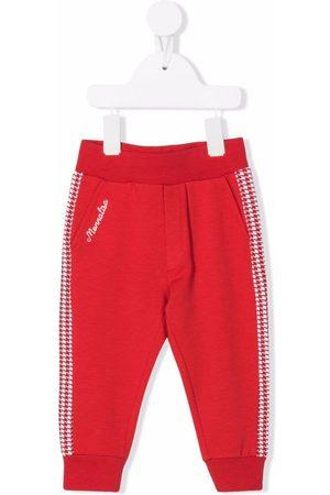 MONNALISA Logo-embroidered track pants