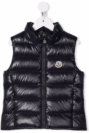 Moncler Logo-patch zip-up padded gilet