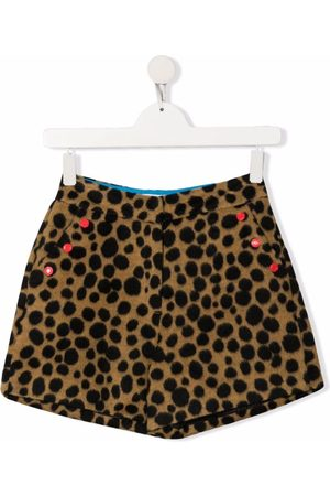 The Marc Jacobs Shorts - TEEN animal-print two-pocket shorts