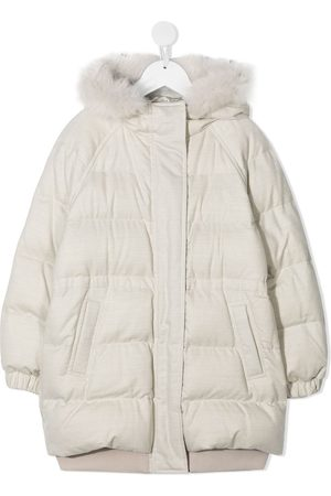 Brunello Cucinelli Padded jacket with faux fur trim