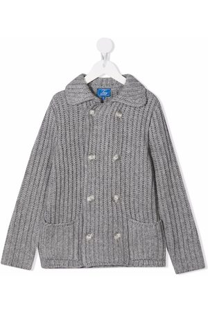 Fay Kids Double-breasted knit jacket