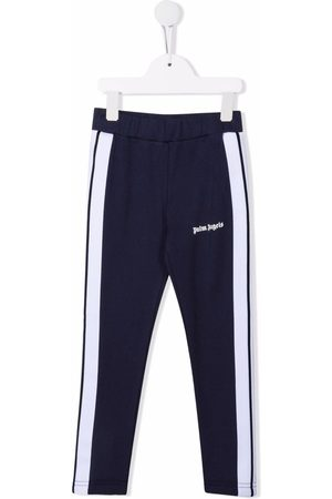 Palm Angels Kids PALM ANGELS TRACK LEGGINGS NAVY WH