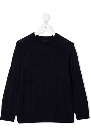 Dsquared2 Kids Cable-knit crew-neck jumper
