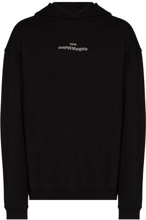 Maison Margiela Heren Sweaters - MARG UPSIDE DOWN LOGO HD SWT BLK