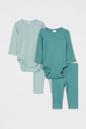 H&M 4-delige katoenen set - Turquoise