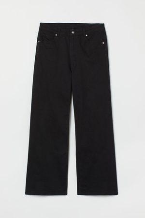 H&M + Wijde broek van keper