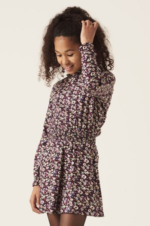 Garcia Meisjes Geprinte jurken - Paarse jurk met allover print i12481 1755 off black