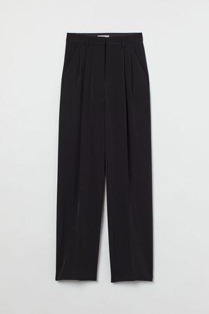 H & M Dames Wijde broeken - Wijde broek met persvouwen