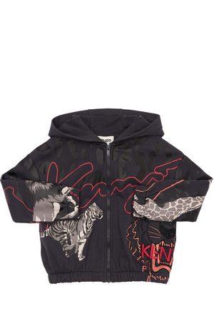 Kenzo Zip-up Cotton Blend Sweatshirt Hoodie