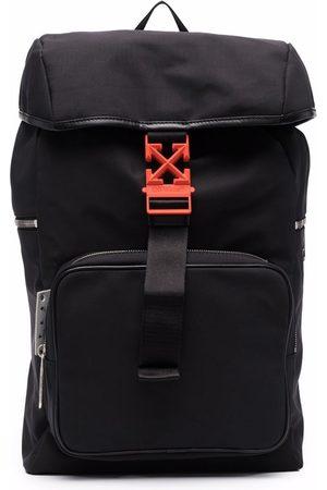 Off-White Heren Rugzakken - Arrows leather-trim backpack