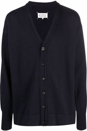Maison Margiela Four-stitch elbow-patch buttoned cardigan