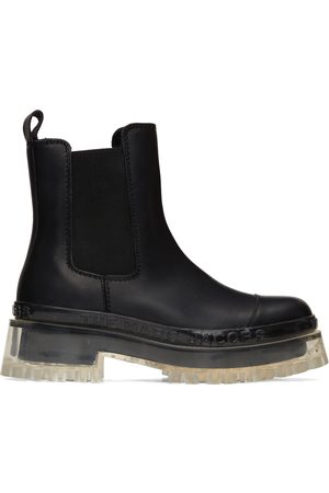 Marc Jacobs Black 'The Boot' Chelsea Boots