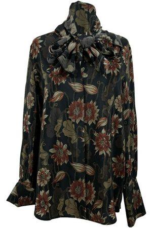 Salvatore Ferragamo Heren Overhemden - Zijden Pussybow-overhemd met bloemenprint