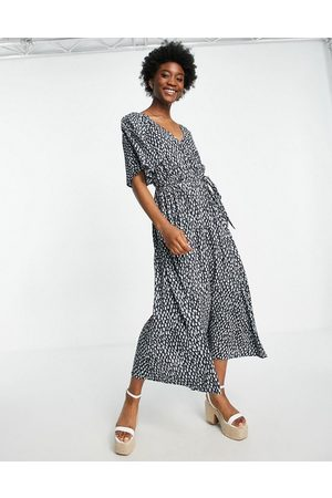 French Connection Dames Casual jurken - Printed midi dress in blue