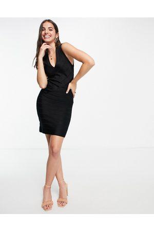 French Connection Dames Feestjurken - Zasha bodycon knit dress in black