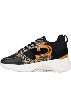 Cruyff Dames Platform - Catalina Mid Top Black Leopard Platform sneakers